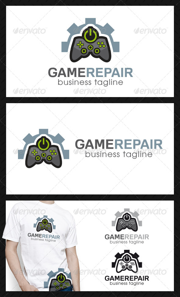 GraphicRiver Game Repair Center Logo Template 4557054