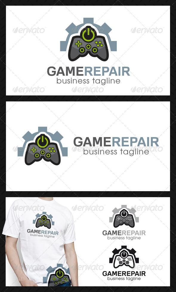 Game Repair Center Logo Template