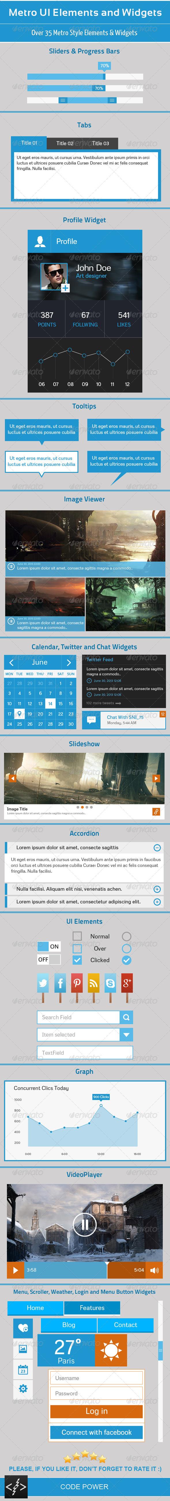 GraphicRiver Metro UI Elements and Widgets 4501754