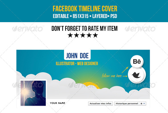 GraphicRiver Creative Facebook Cover Timeline 4557197