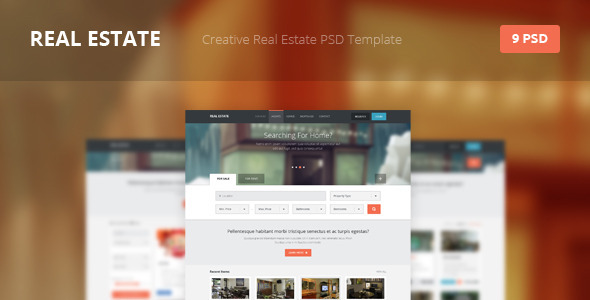 Real Estate - Creative PSD Template - Retail PSD Templates