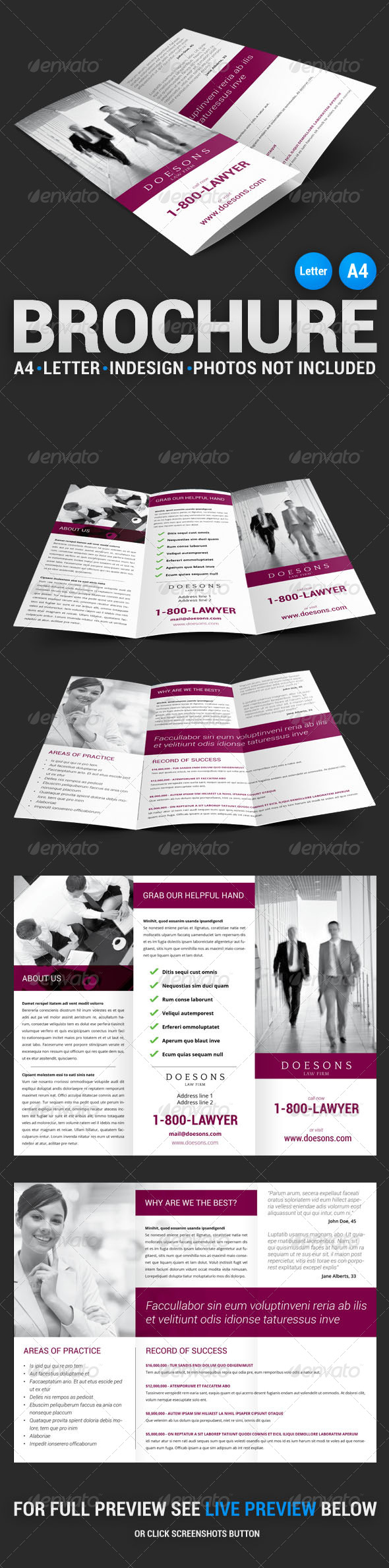 Law Firm Tri-Fold Brochure - Corporate Brochures