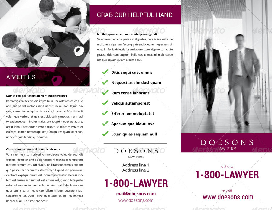 Law Firm TriFold Brochure by Demorfoza – Law Firm Brochure