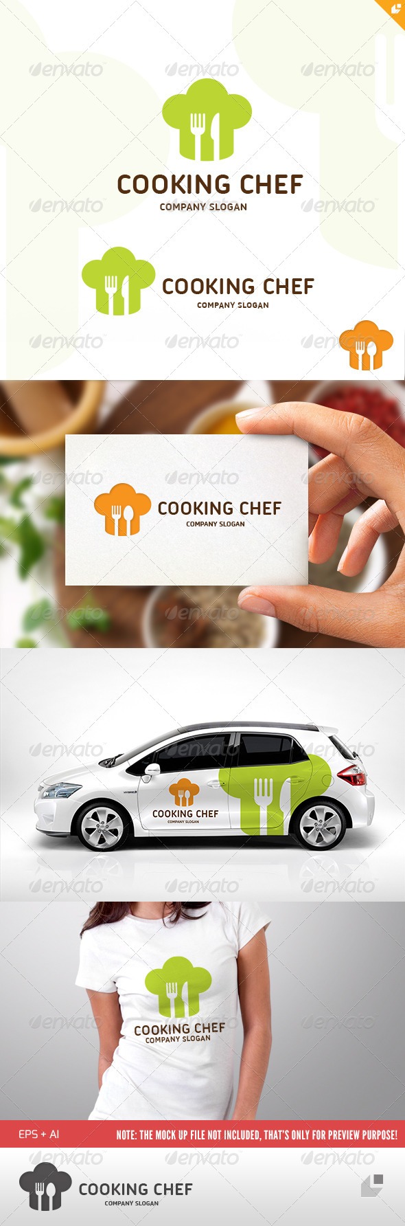 GraphicRiver Cooking Chef Logo 4557870