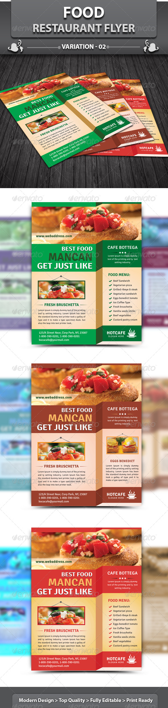 GraphicRiver Food Restaurant Flyer 4557982