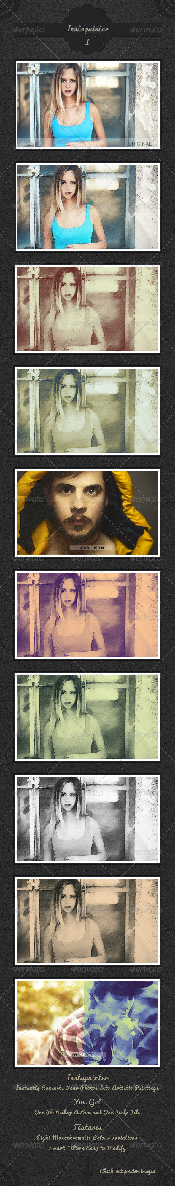 GraphicRiver Instapainter Artistic Painting Photoshop Action 4558182