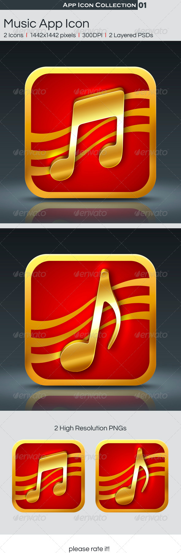 GraphicRiver Music App Icon 4558231
