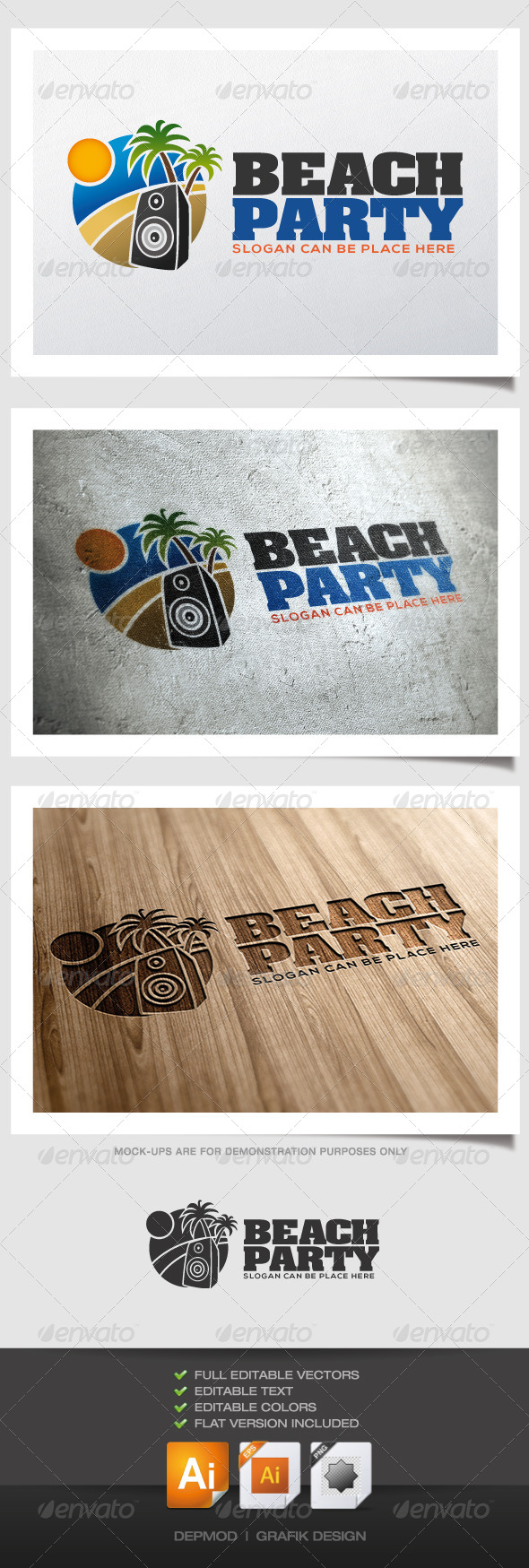 GraphicRiver Beach Party Logo 4558415