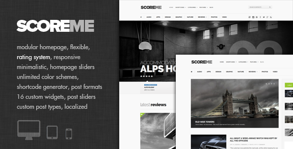 Scoreme - Rating & Responsive Magazine/Blog Theme