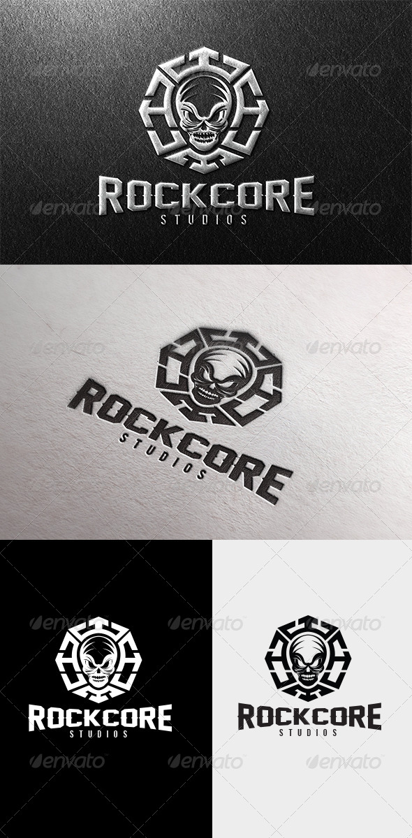 GraphicRiver Rock Core Logo 4523794