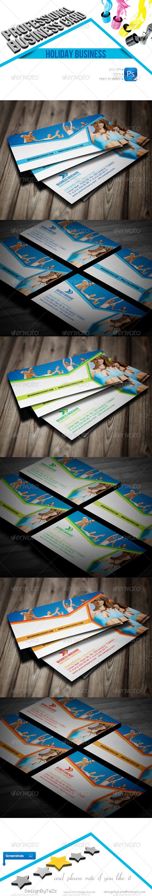 GraphicRiver Holiday Business Cards 4558681