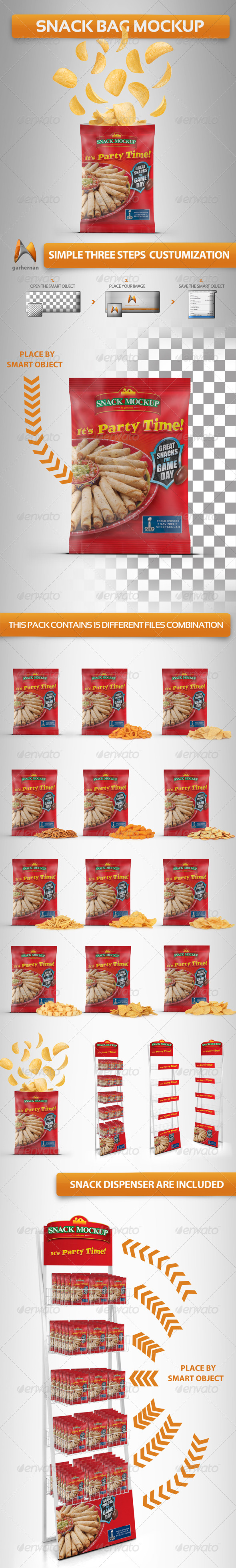 GraphicRiver Snack Bag Mockup 4558761