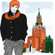 Vector Sketch of the Stylish Guy in Moscow - GraphicRiver Item for Sale