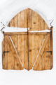 wooden door in a snow palace - PhotoDune Item for Sale