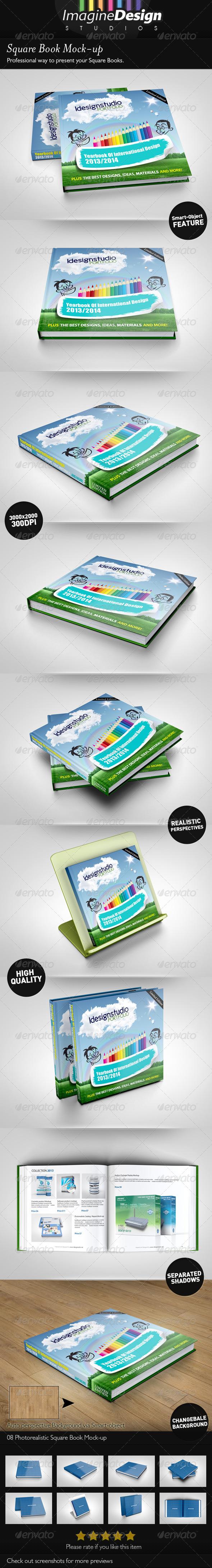 GraphicRiver Square Book Mock-up 4559056