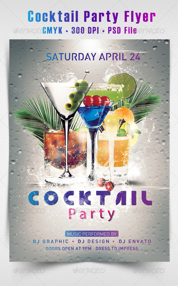 GraphicRiver Cocktail Party Flyer 4484937