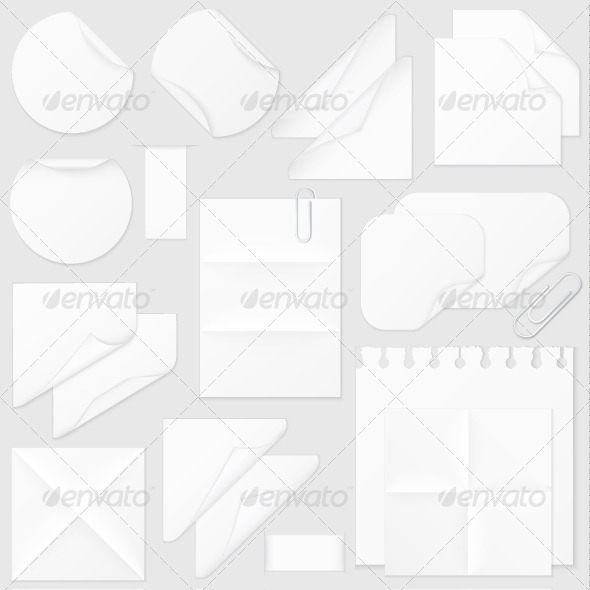GraphicRiver Paper Elements Collection 4488569