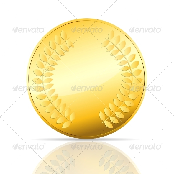 GraphicRiver Gold Coin Vector Illustration on White 4559233