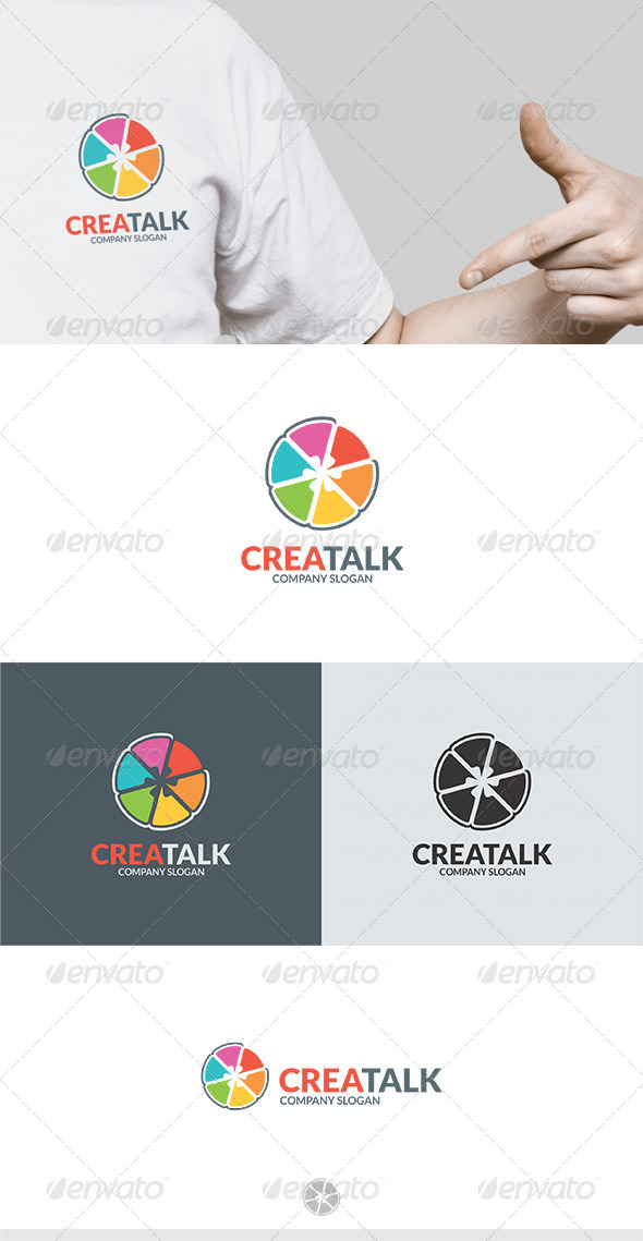Crea Talk Logo - Vector Abstract