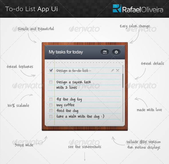 GraphicRiver To-Do List App Ui 4559324