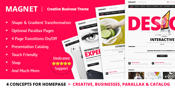 ThemeForest MAGNET Creative Business WordPress Theme 4550256