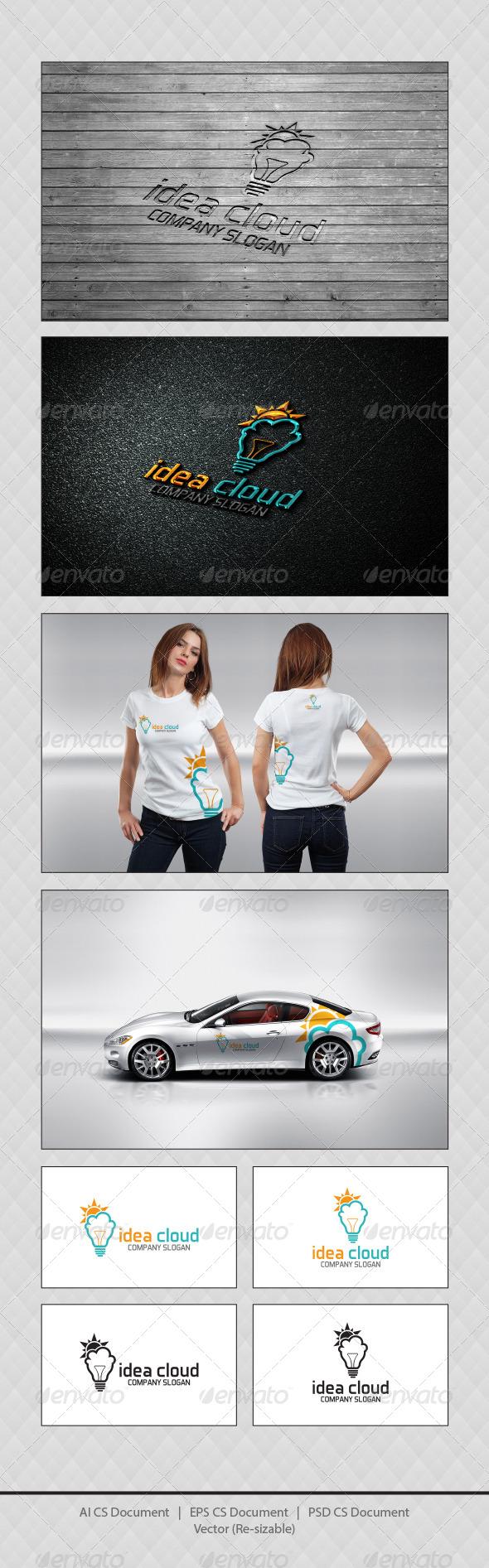 GraphicRiver Idea Cloud Logo Templates 4352546