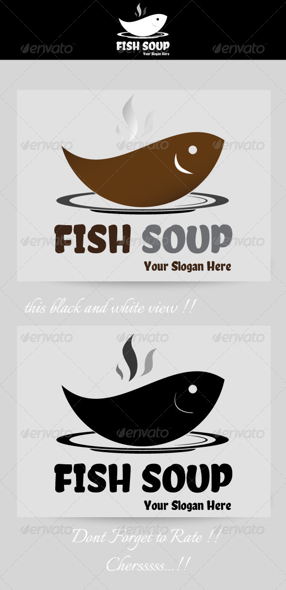 Fish Soup Resto Logo - Food Logo Templates