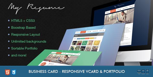 ThemeForest Resume Responsive Bootstrap CV Resume 4560140