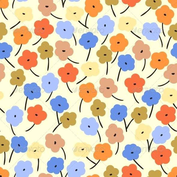 GraphicRiver Seamless Pattern with Small Flowers 4560145