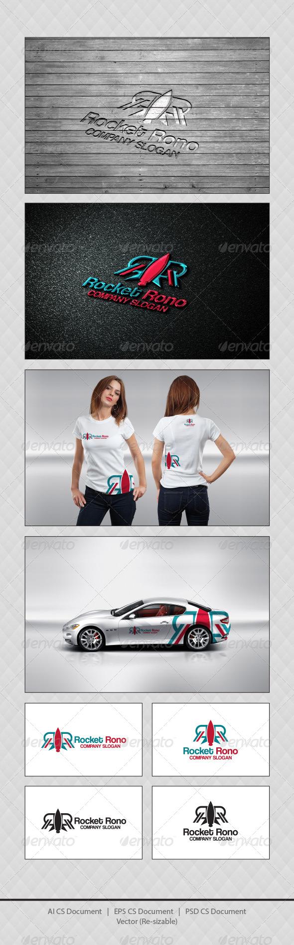 GraphicRiver Rocket Rono R Logo Templates 4560152