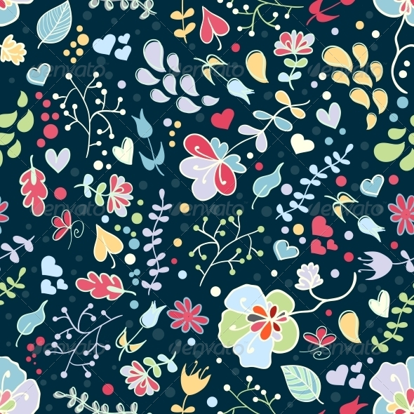 GraphicRiver Vector Floral Seamless Pattern 4560250