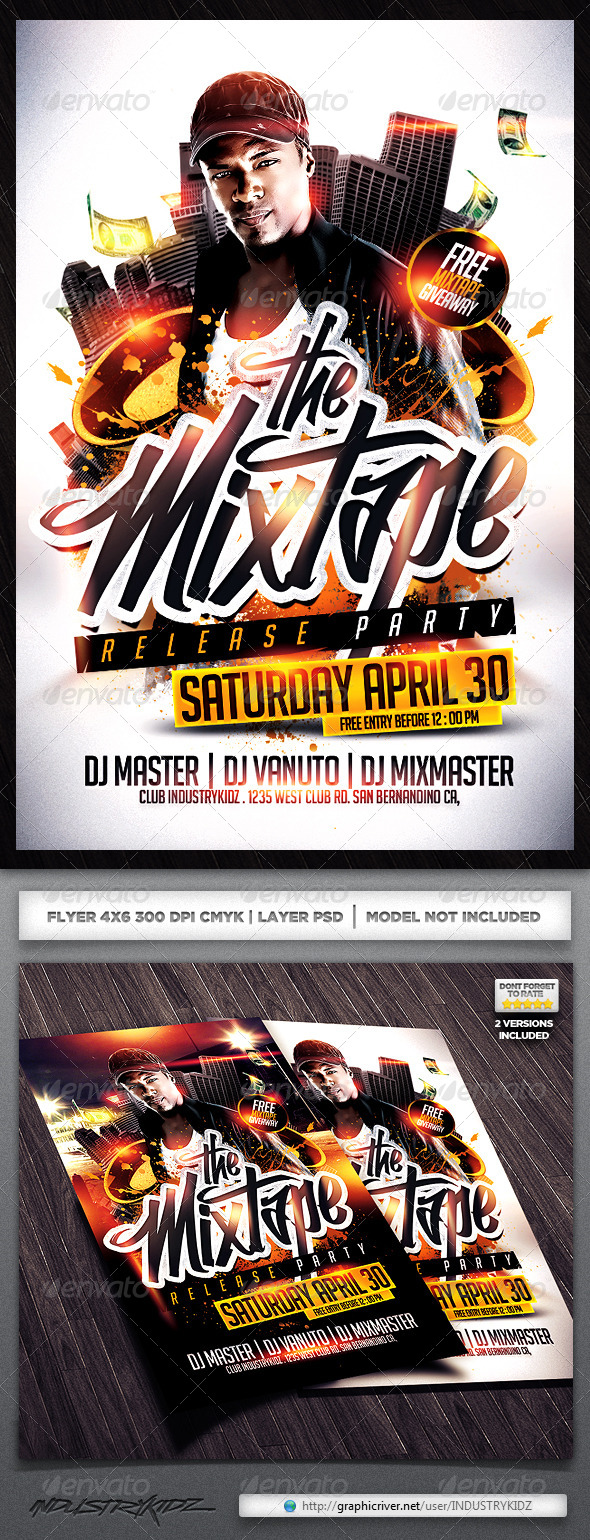 GraphicRiver Mixtape Release Party Flyer 4560361