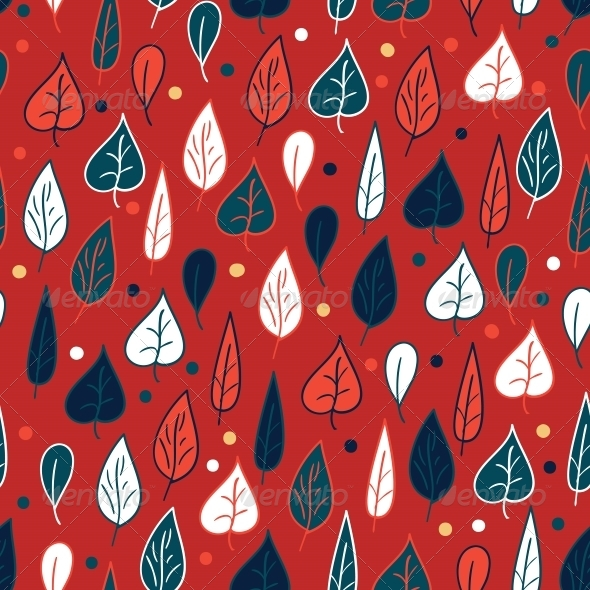 GraphicRiver Seamless Pattern with Leaves 4560368