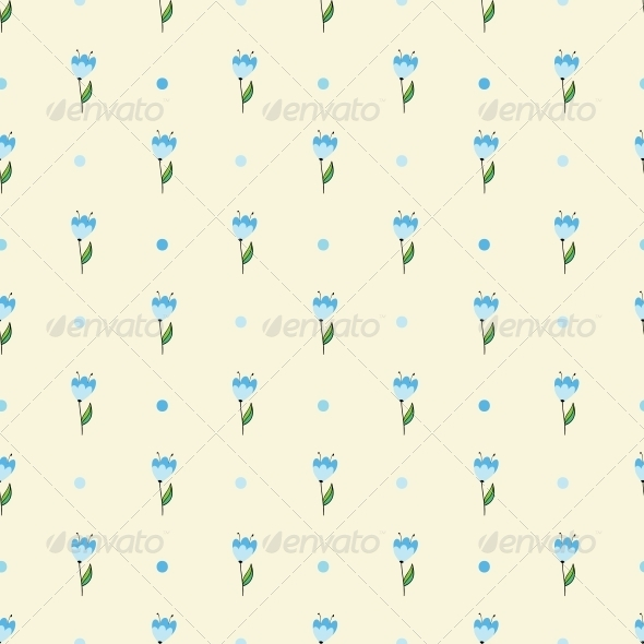 GraphicRiver Seamless Floral Pattern 4560385