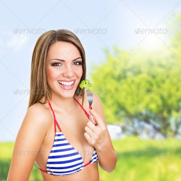 Fresh and healthy summer snack - Stock Photo - Images