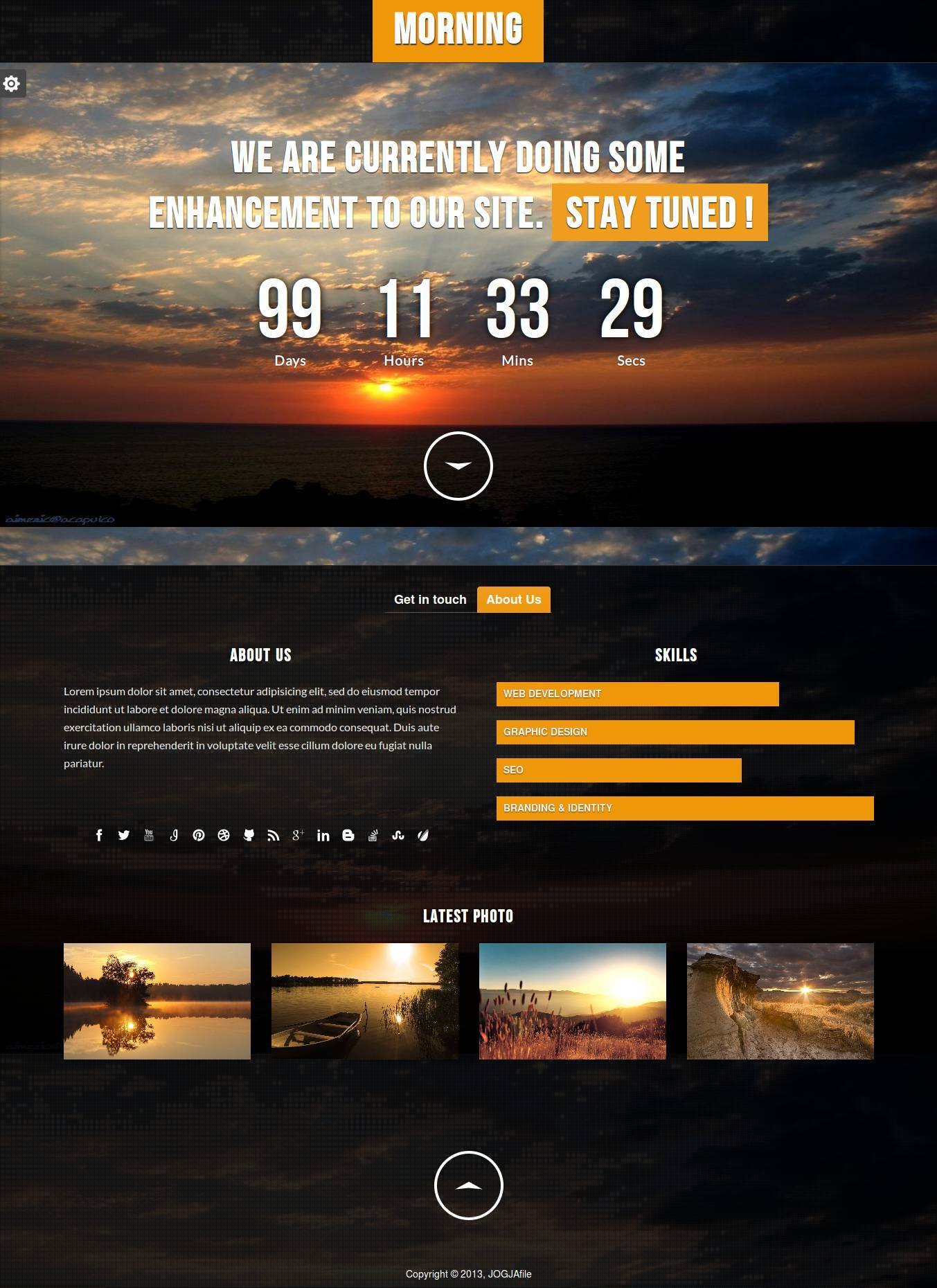 Morning - Responsive Underconstruction Template