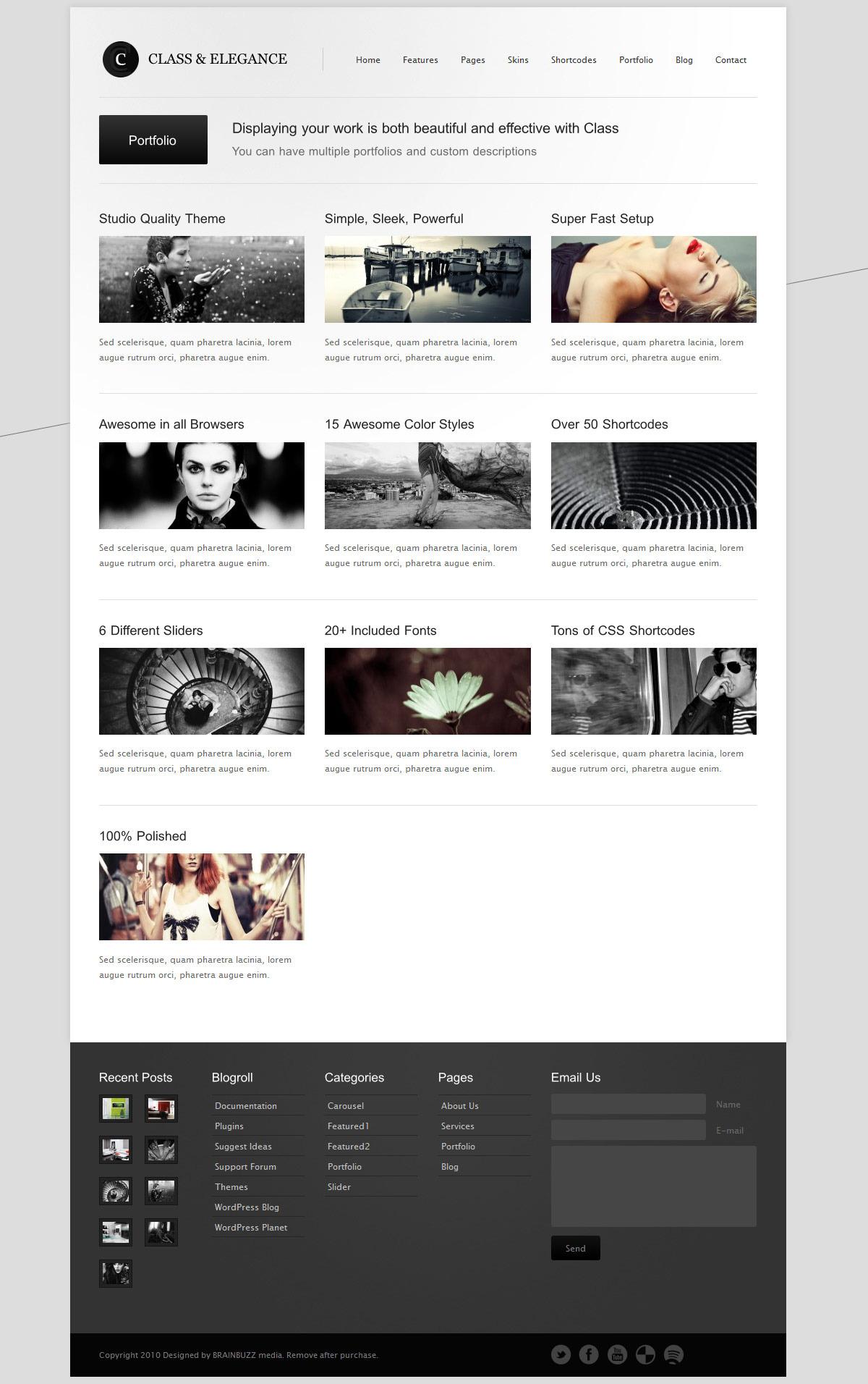 Class - Premium Business, Blogging & Portfolio