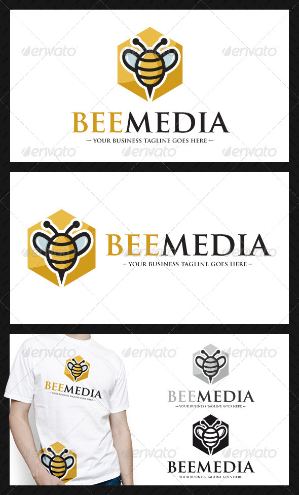 GraphicRiver Bee Media Logo Template 4519339