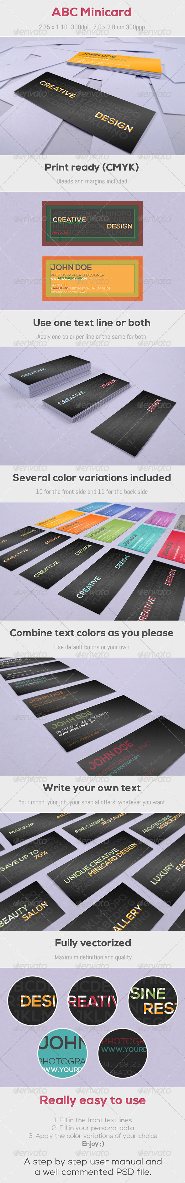 GraphicRiver ABC Minicard 4562063