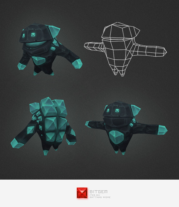 3DOcean Low Poly Crystal Elemental 4562277