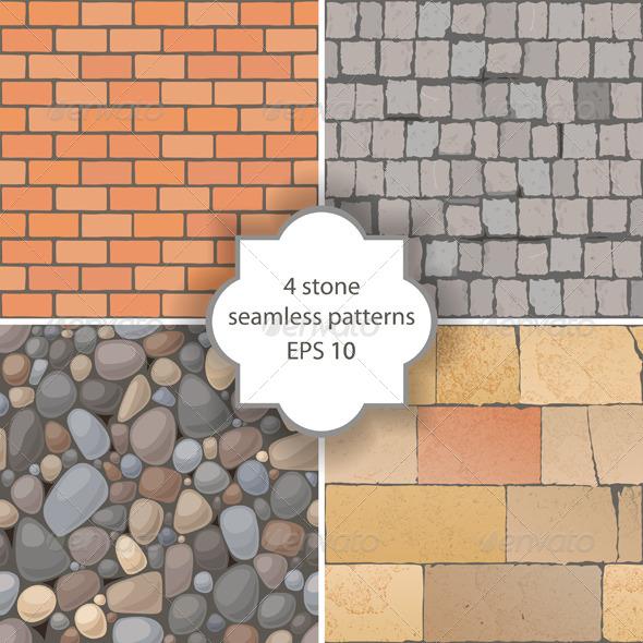 GraphicRiver Stone Seamless Patterns 4562448