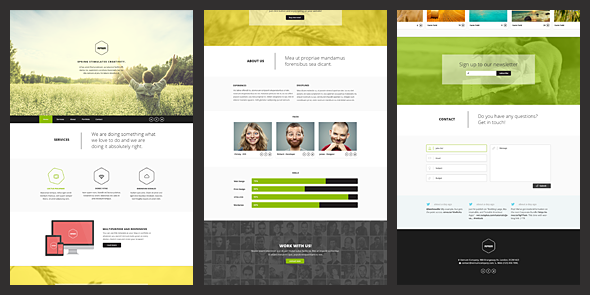ThemeForest Vernum Responsive One Page Parallax Template 4562458