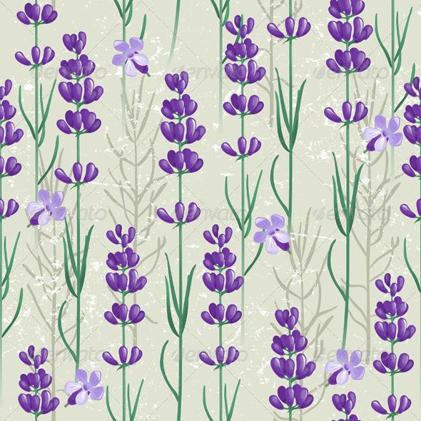 GraphicRiver Lavender Seamless Ornament 4562508