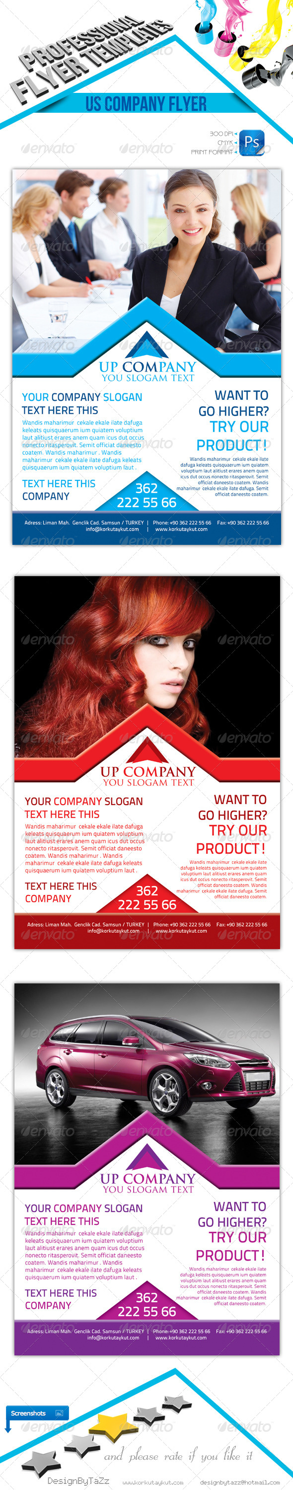 GraphicRiver Us Company Flyer Template 4562778