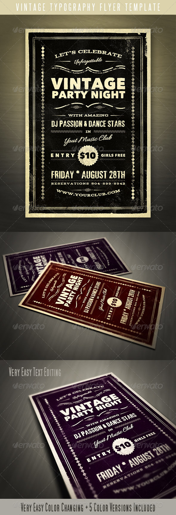 GraphicRiver Vintage Typography Flyer 4562880