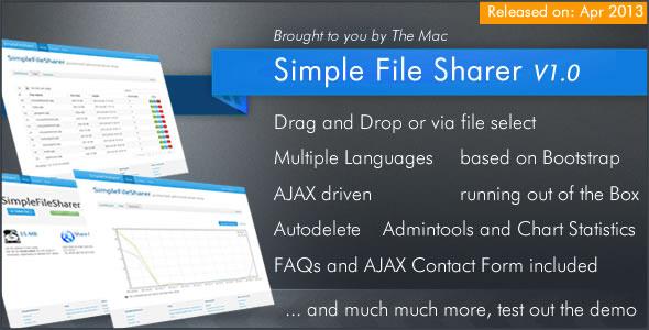CodeCanyon Simple File Sharer 4562987