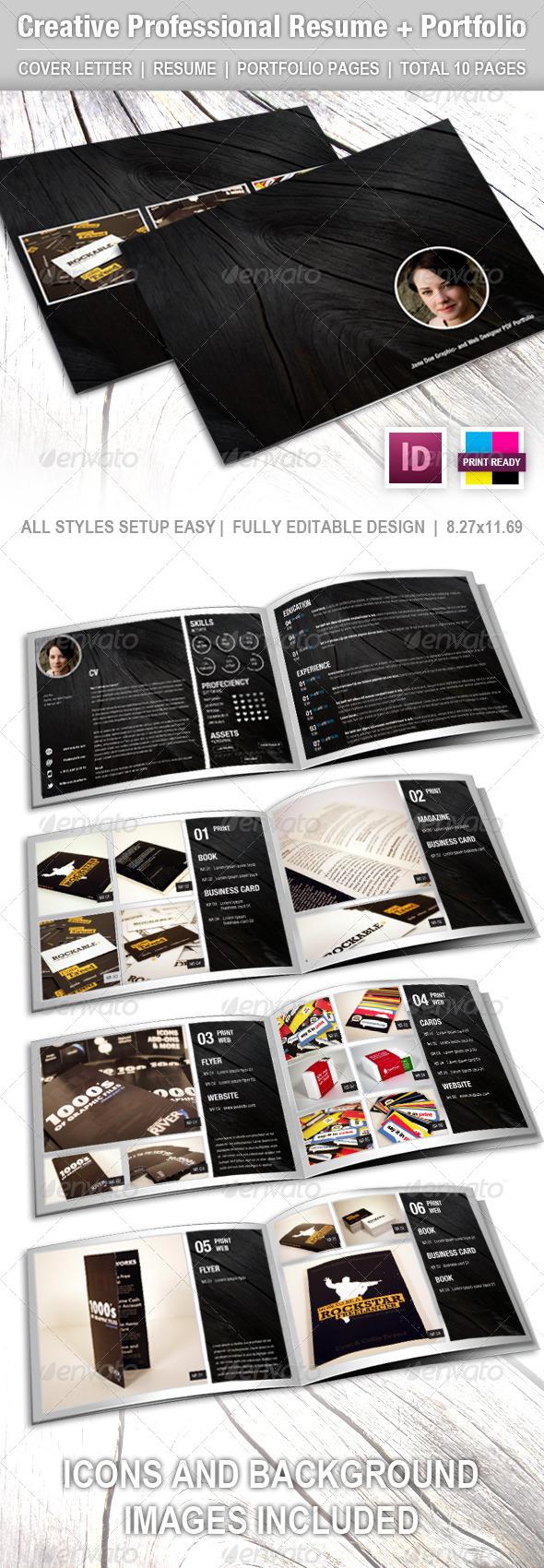 GraphicRiver Creative Professional Resume CV Portfolio 4563419