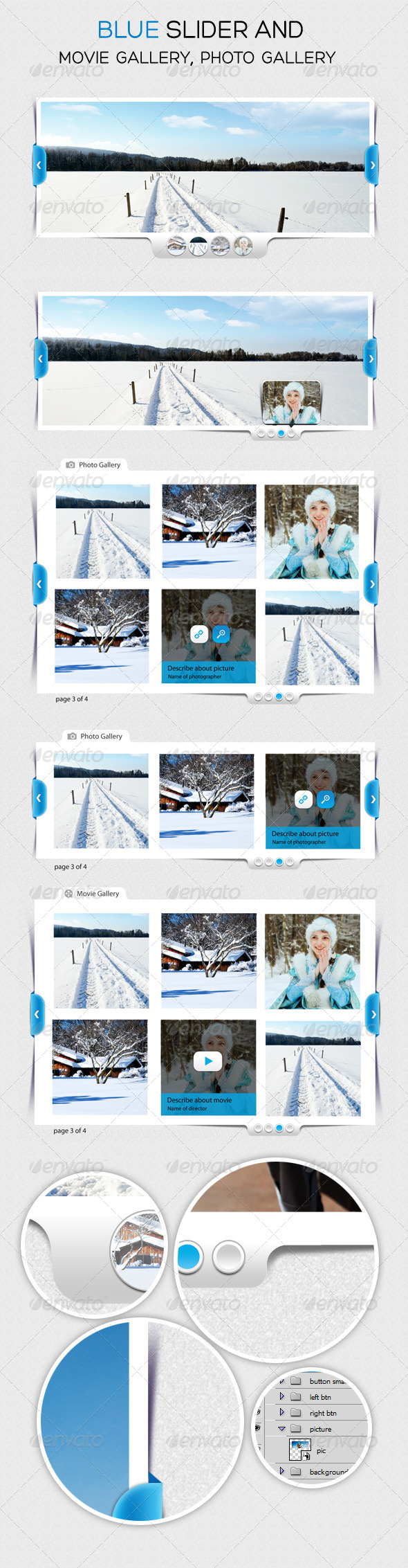 GraphicRiver Blue Slider and Photo Gallery 4503438