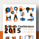 Business Conference Poster + 40 Industry Icons - GraphicRiver Item for Sale