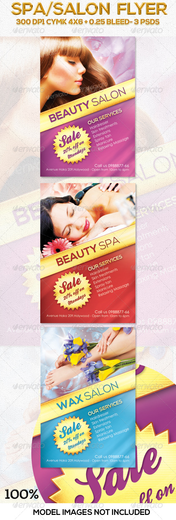 Salon Spa Flyer in 3 Colors